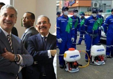 #VIDEO Denuncian Gobierno de Danilo Medina usa empleados del MOPC y los viste con uniformes de la empresa de Gonzalo Castillo para atribuirle los trabajos de fumigación que se hacen con los recursos del pueblo